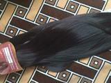 Волосы на заколках (темный шоколад)